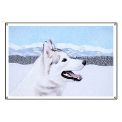 Siberian Husky (Silver and White) Banner