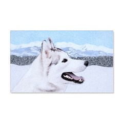 Siberian Husky (Silver and White) Wall Decal