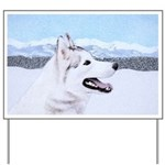Siberian Husky (Silver and White) Yard Sign