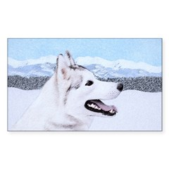 Siberian Husky (Silver a Sticker (Rectangle 10 pk)