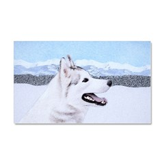 Siberian Husky (Silver and Whit Car Magnet 20 x 12