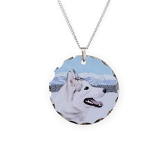 Siberian Husky (Silver and W Necklace