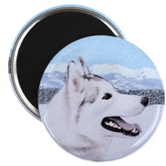 Siberian Husky (Silver and White) Magnet