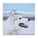 Siberian Husky (Silver and White) Tile Coaster