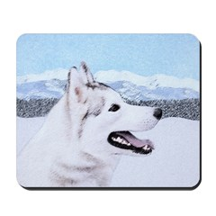 Siberian Husky (Silver and White) Mousepad