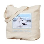 Siberian Husky (Silver and White) Tote Bag