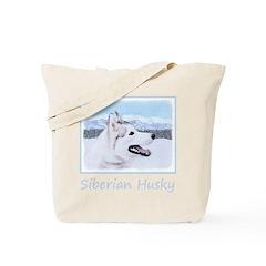 Siberian Husky (Silver and White) Tote Bag