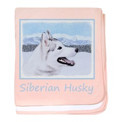 Siberian Husky (Silver and White) baby blanket