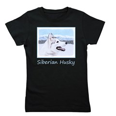 Siberian Husky (Silver and White) Girl's Tee