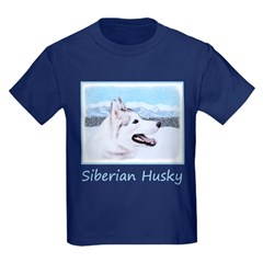 Siberian Husky (Silver and White T