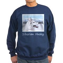 Siberian Husky (Silver and White Sweatshirt (dark)