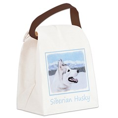 Siberian Husky (Silver and White) Canvas Lunch Bag