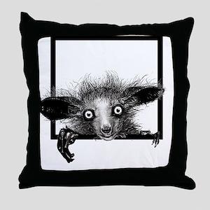 CREEPYFINGERLOGO Throw Pillow