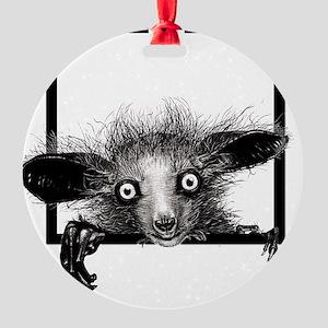 CREEPYFINGERLOGO Round Ornament