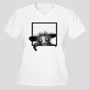 CREEPYFINGERLOGO Women's Plus Size V-Neck T-Shirt