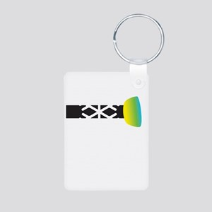 think snow2 Aluminum Photo Keychain