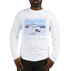 Siberian Husky (Silver and Whi Long Sleeve T-Shirt