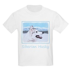 Siberian Husky (Silver and Whit T-Shirt
