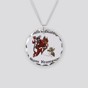 krampusTeeColor Necklace Circle Charm