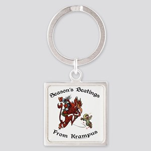 krampusTeeColor Square Keychain