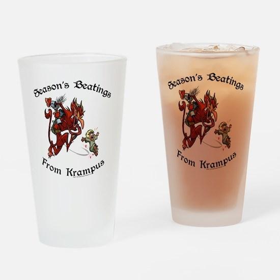 krampusTeeColor Drinking Glass