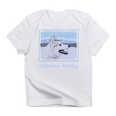 Siberian Husky (Silver and White) Infant T-Shirt