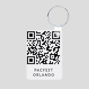 pacfest_QRcode_tshirt Aluminum Photo Keychain
