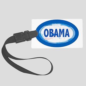 obama oval bubbles Large Luggage Tag