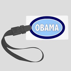 obama oval Large Luggage Tag