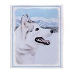 Siberian Husky (Silver and White) Throw Blanket