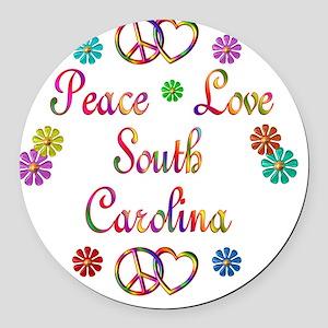 southcarolina Round Car Magnet