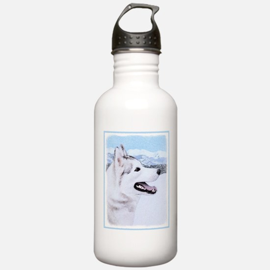 Siberian Husky (Silver Water Bottle
