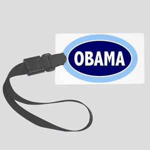 obama oval template  Large Luggage Tag