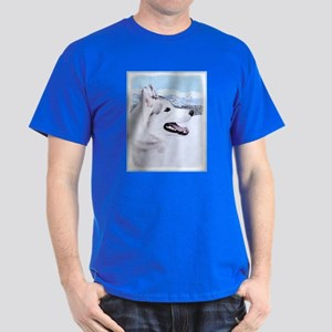 Siberian Husky (Silver and White) Dark T-Shirt