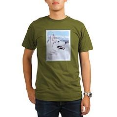 Siberian Husky (Silve Organic Men's T-Shirt (dark)
