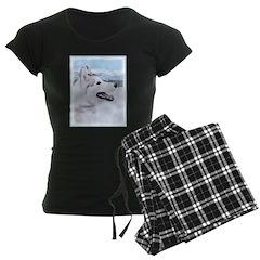 Siberian Husky (Silver and W Pajamas