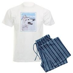 Siberian Husky (Silver and Wh Pajamas