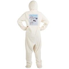 Siberian Husky (Silver and White) Footed Pajamas