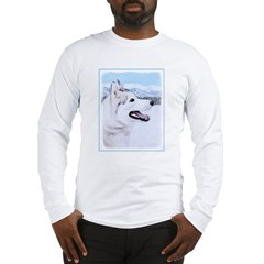 Siberian Husky (Silver and Whi Long Sleeve T-Shirt