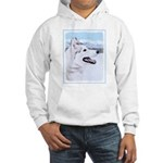 Siberian Husky (Silver and White Hooded Sweatshirt