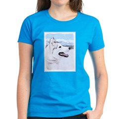 Siberian Husky (Silver and Wh Women's Dark T-Shirt
