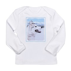 Siberian Husky (Silver Long Sleeve Infant T-Shirt
