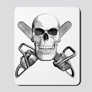 skull_chainsaws Mousepad