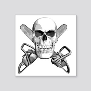 "skull_chainsaws Square Sticker 3"" x 3"""