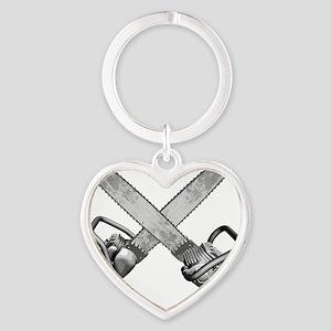 chainsaws Heart Keychain