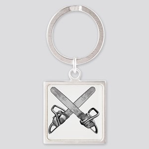 chainsaws Square Keychain