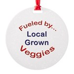 Fueled by Local Round Ornament