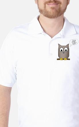 OwlWhoWhom Golf Shirt