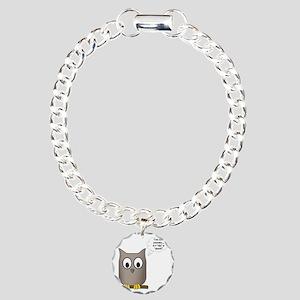 OwlWhoWhom Charm Bracelet, One Charm