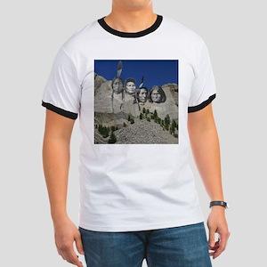 Native Mt. Rushmore Ringer T